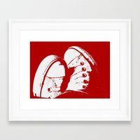 converse Framed Art Prints featuring Converse by Dawn East Sider