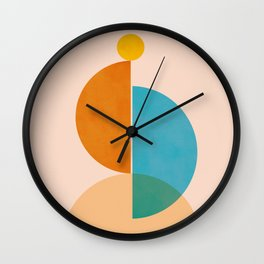 Abstraction_SUN_Rising_Minimalism_001 Wall Clock