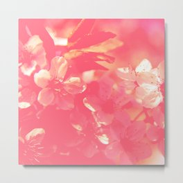 Surreal magenta flower simple minimalist design Metal Print