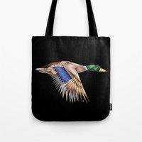 duck Tote Bags featuring Duck by AkuMimpi