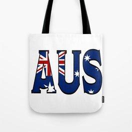 Abbreviated Australia with Flag Tote Bag