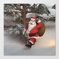 santa Canvas Prints featuring Santa by Design Windmill