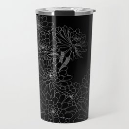 Succulent - Black Background Travel Mug