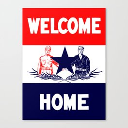 Vintage Military Welcome Home Canvas Print