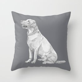 Labrador retriever Yellow Throw Pillow