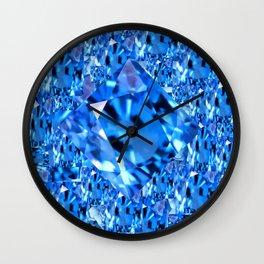 SEPTEMBER BLUE TOPAZ GEMMY  BIRTHSTONE ART Wall Clock