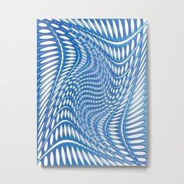 Optical Illusion in blue Metal Print