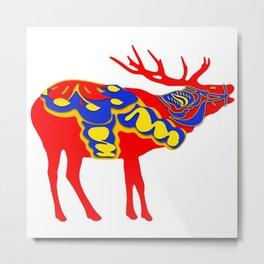 Graphic Elk 02 Swedish Dala Male Metal Print