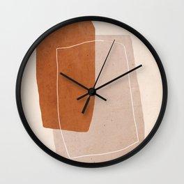 Minimal Abstract Art 24 Wall Clock