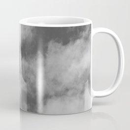 Black and White Clouds Texture Coffee Mug