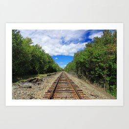 Beautiful Day Train Tracks Art Print