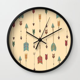 Bohemian hand drawn arrows, 01 Wall Clock