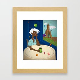 Coffee in the Boulevard Framed Art Print
