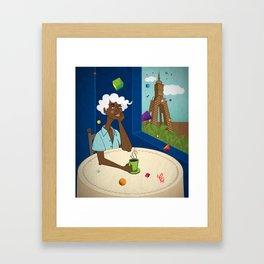Coffee in the Boulevard Framed Art Print