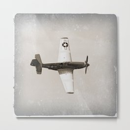 Antique Fighter Airplane Metal Print
