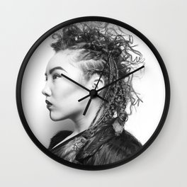 Warrior Within Wall Clock