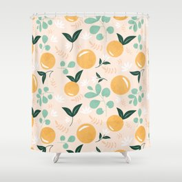 Floridian Orange Floral Shower Curtain