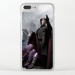 X-Men: Sentinel Diorama Series IV (Magneto) Clear iPhone Case