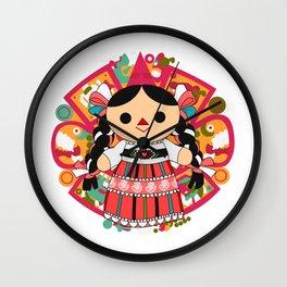 Maria 4 (Mexican Doll) Wall Clock