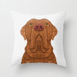 Bordeaux Mastiff Throw Pillow