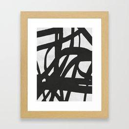 Black Expressionism I Framed Art Print