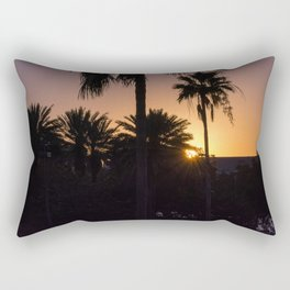Backlight with palm trees Rectangular Pillow