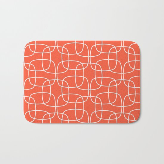 Square Pattern Flame Bath Mat