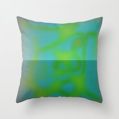 Yellow Color Leak Throw Pillow