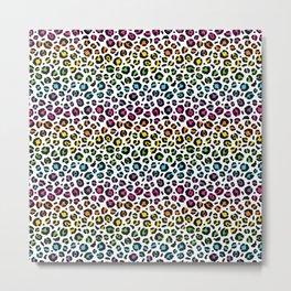 Rainbow Leopard Metal Print