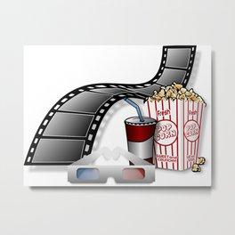 3D Movie Cinema Metal Print