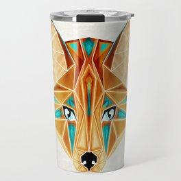blue fox Travel Mug