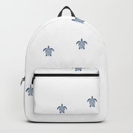 """The Race"" Baby Sea Turtle Minimal Art Design Backpack"