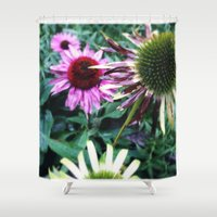 zappa Shower Curtains featuring spiny  by Diva Zappa