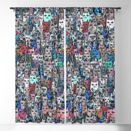 Gemstone Cats RGB Blackout Curtain
