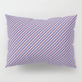 Light Lilac Blue Inclined Stripes Pillow Sham
