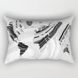 Black And White Marbled World Map - Sharon Cummings Rectangular Pillow