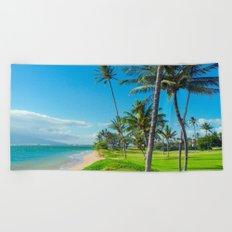 Waipuilani Beach Kihei Maui Hawaii Beach Towel