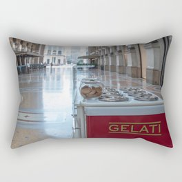 Ice cream cart in a historic gallery in the city of Milan Rectangular Pillow