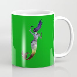 Galaxy Mermaid (Green) Coffee Mug