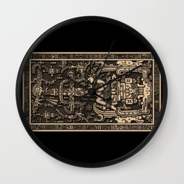 Sala Tumba de Pakal Wall Clock