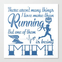 Running Mimi Canvas Print