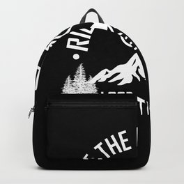 RIDE MOUNTAINBIKE Funny Cycling Gift Bicycle Rider Backpack