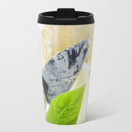 delicatessen soft cheese with grape and vegetables Travel Mug