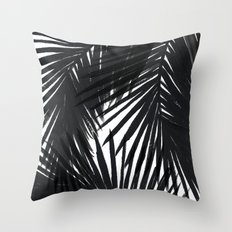 Palms Black Throw Pillow