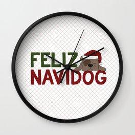 Feliz Navidog Wall Clock