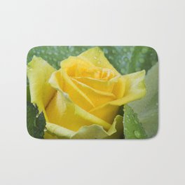 Yellow Rose Bath Mat