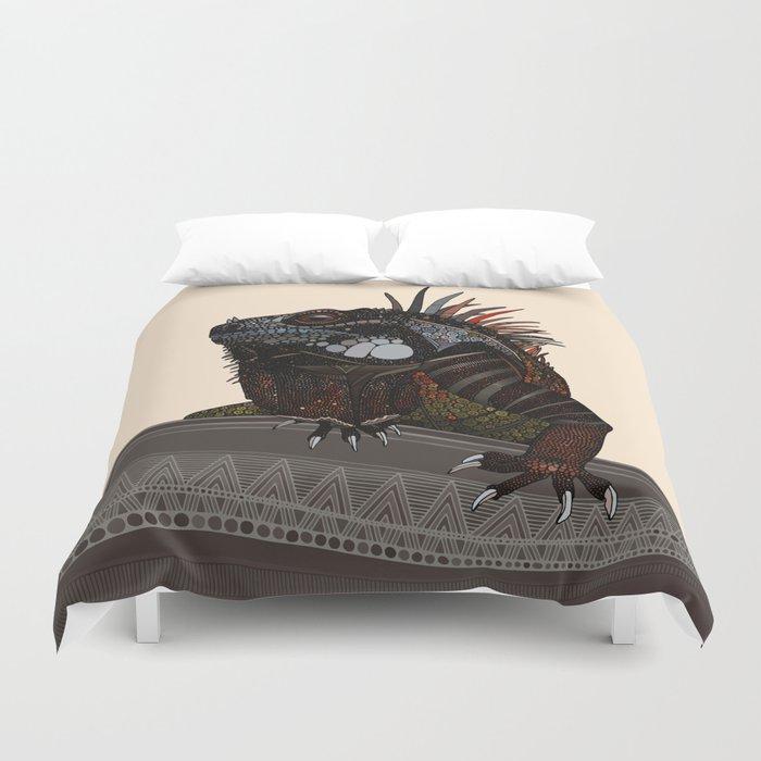 iguana ecru Duvet Cover