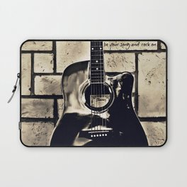 Be Your Song and Rock On in Black Laptop Sleeve