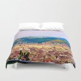 Italian Cityscape Duvet Cover