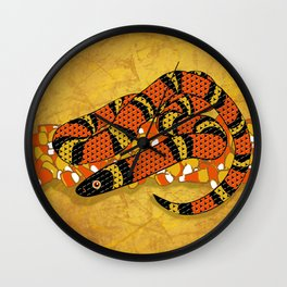 Mexican Candy Corn Snake Wall Clock